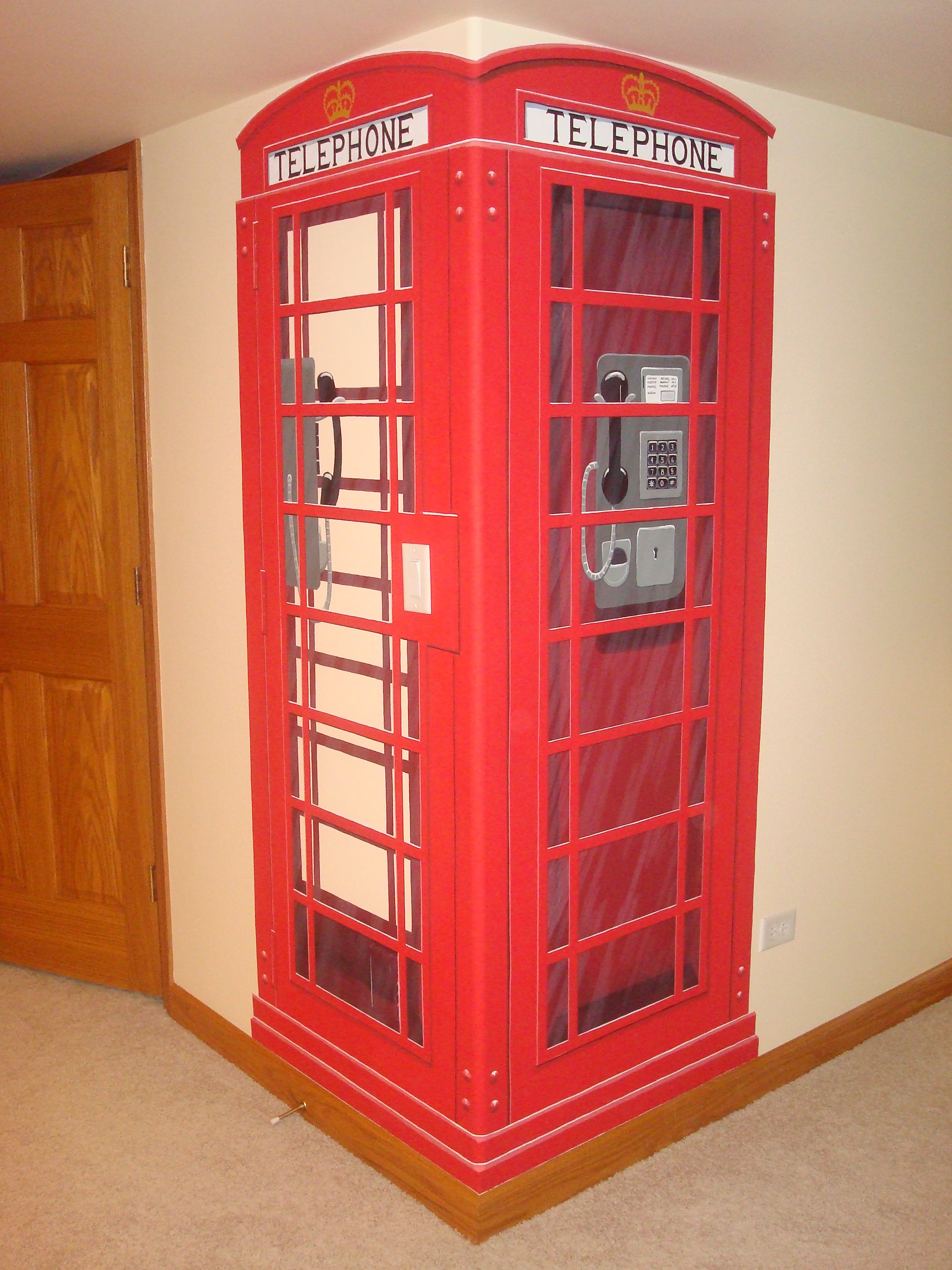 English Phone Booth Mural