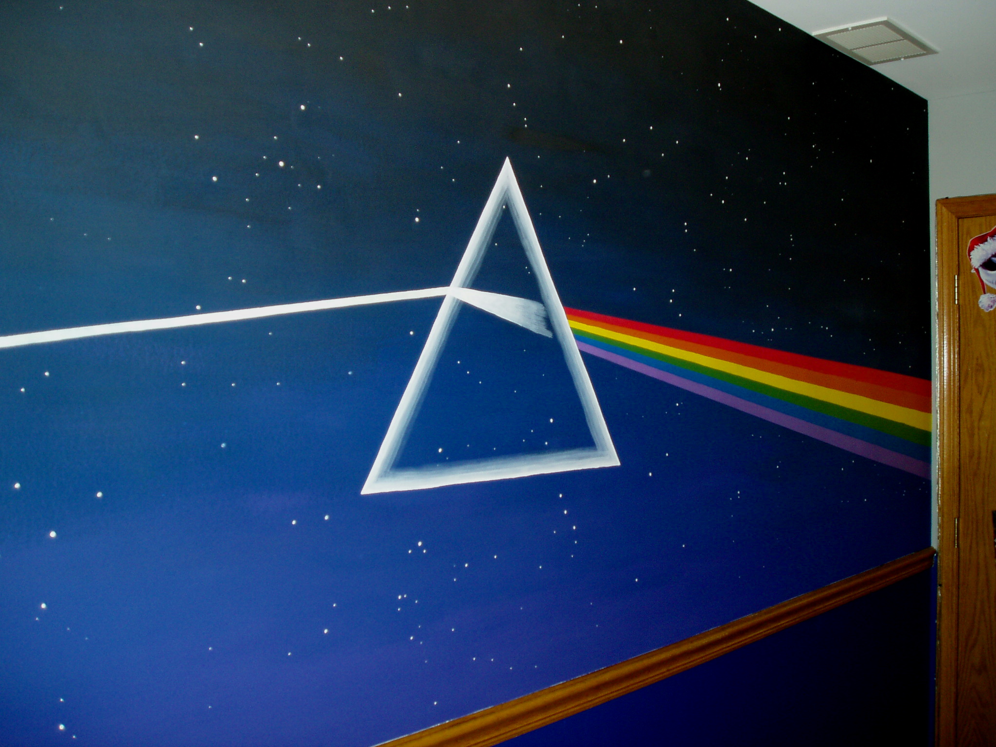 dark side of the moon mural