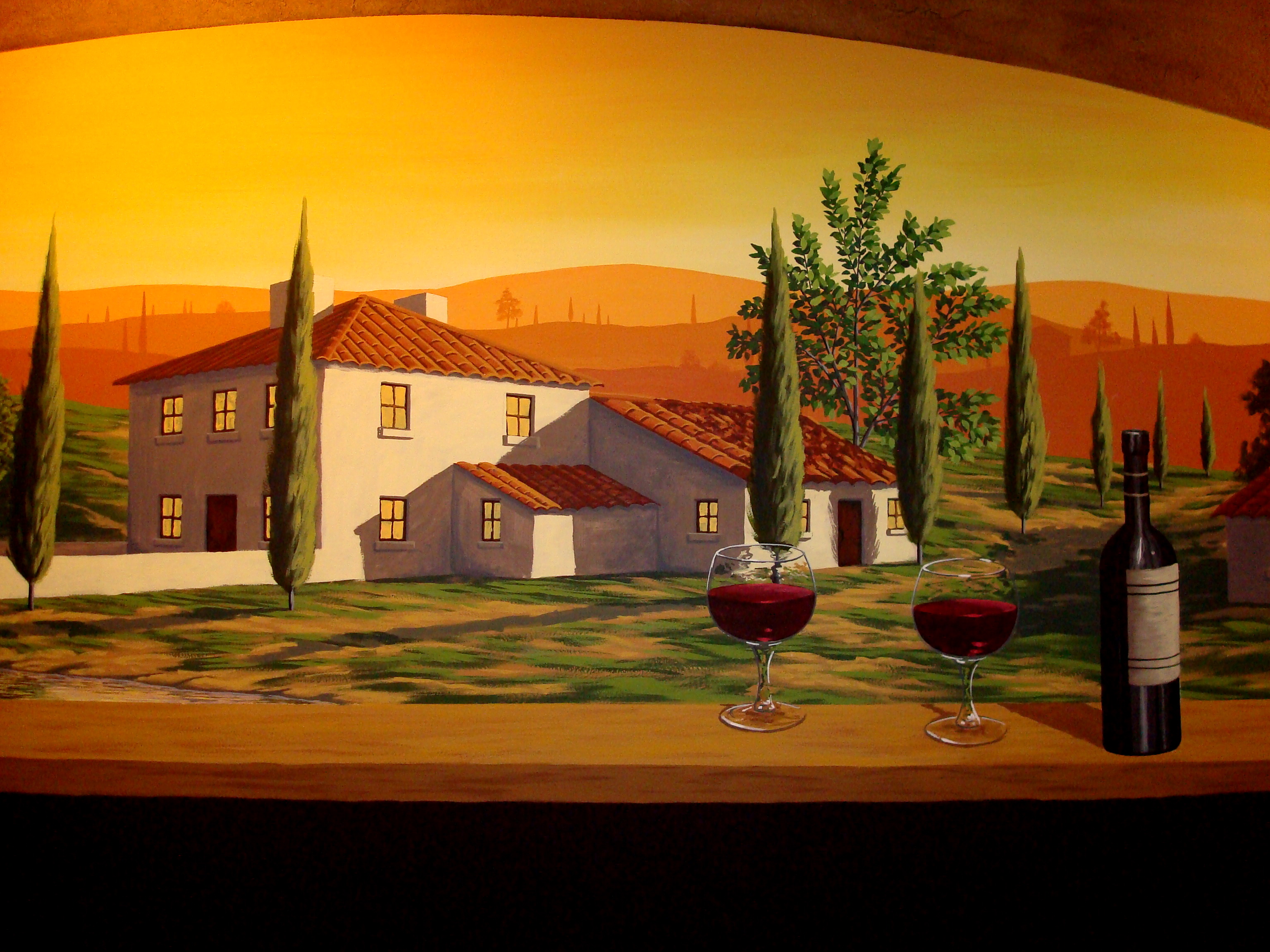Tuscan Winery Mural