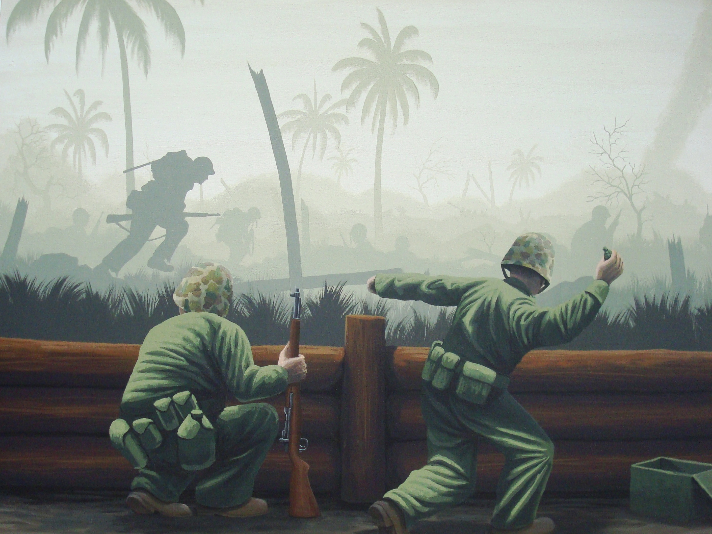 Pacific wwii mural for Dark side of the moon mural